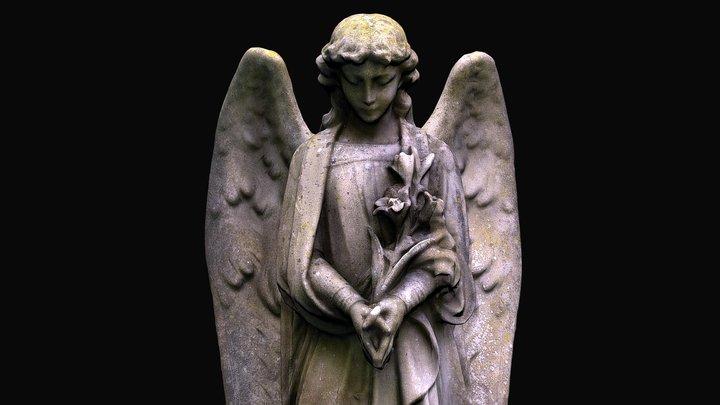 Angel memorial stone, Priory Church Boxgrove 3D Model
