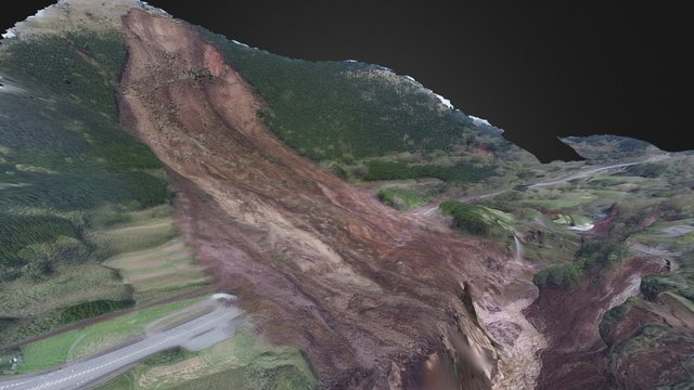 aso bridge landslide by uav (run1) 3D Model