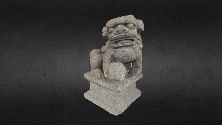 ST0027-stone lion 3D Model