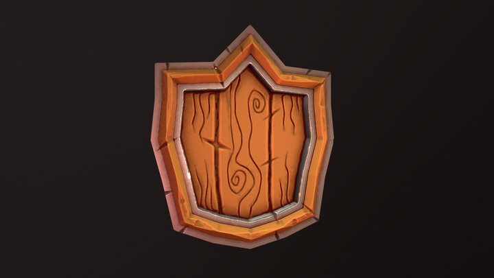 Low Poly Cute Game Asset Shield 3D Model