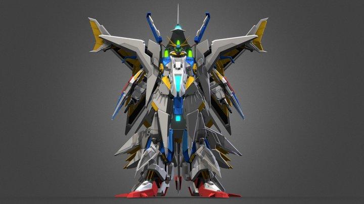 RX-104 FF Penelope Gundam  A Post 3D Model