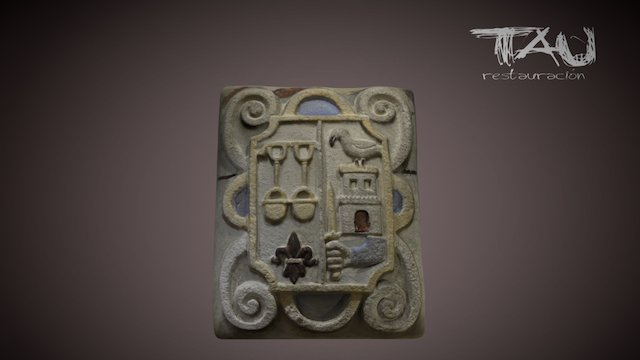 Tau restauracion - Escudo 3D Model