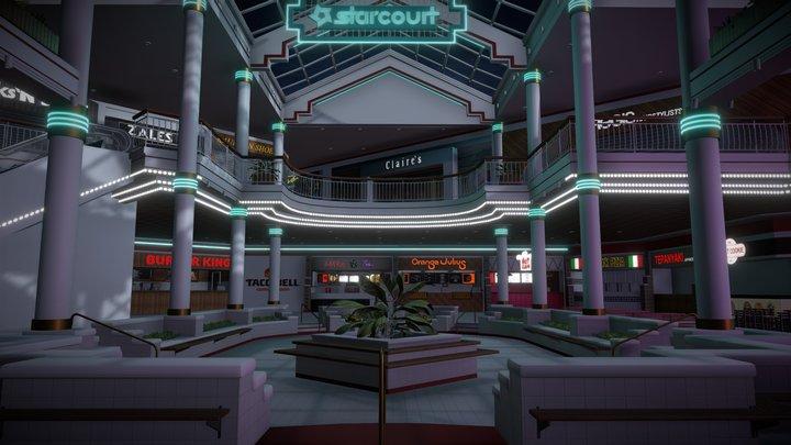 Starcourt Mall Interior (Stranger Things) 3D Model