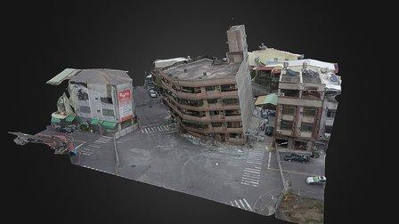 幸福大樓公寓傾斜 3D Model