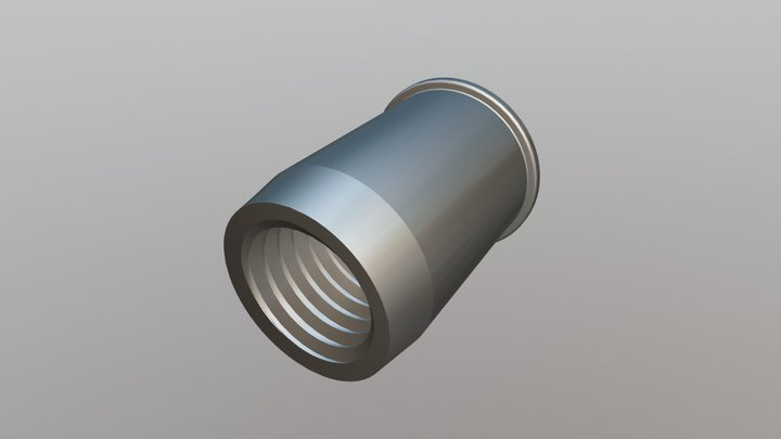 Rivet Nut - Reduced Head, Euro Open End - REO 3D Model