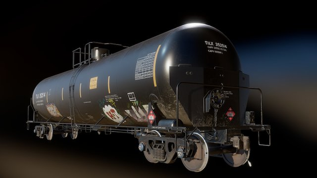 TrinityRail 31,700 Gallon Tank Car 3D Model
