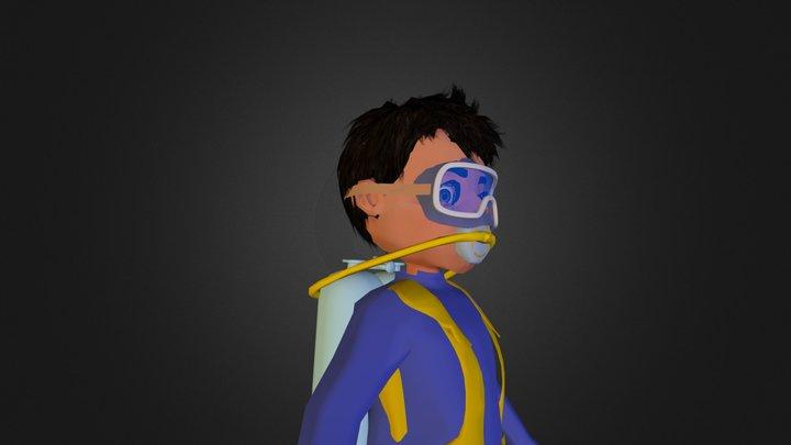 Hamdan Character 3d model 3D Model