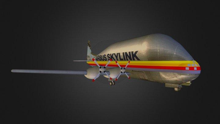 Super Guppy Airbus 3D Model