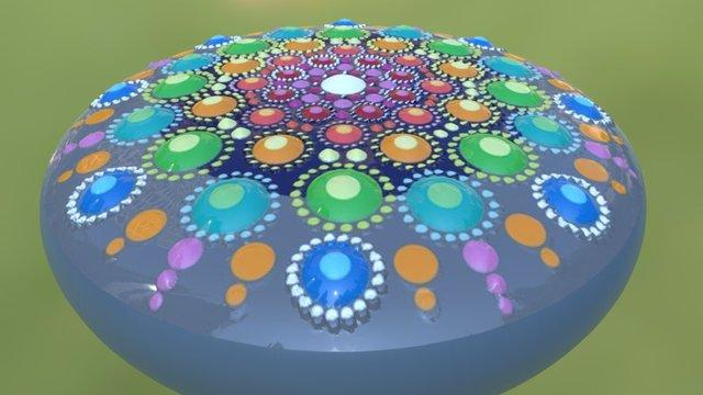 Mandala Color 3D Model