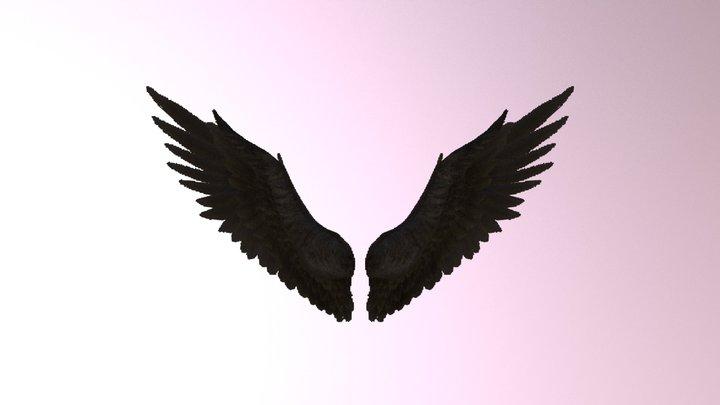 Wings black JSON pixel format for Minecraft 3D Model