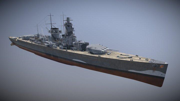 Admiral Graf Spee 3D Model