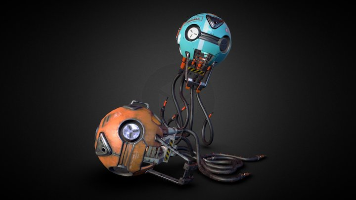 New Robot Delivery 3D Model