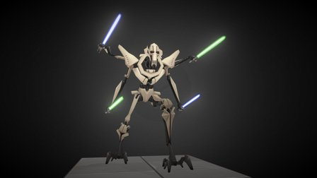 General Grievous - Star Wars : Galaxy of Heroes 3D Model