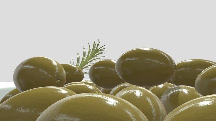 Greek Olives 3D Model