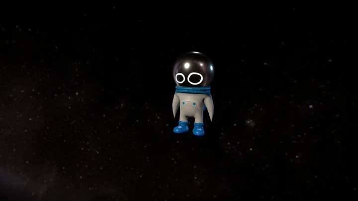 A Tiny Crisis in Space - Astronaut 3D Model