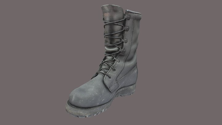 Military boot low poly 3D Model
