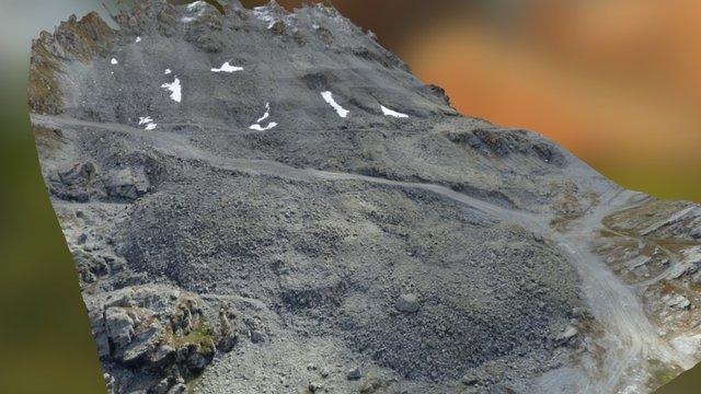 Mont Gelé south-east slope -drone photogrammetry 3D Model