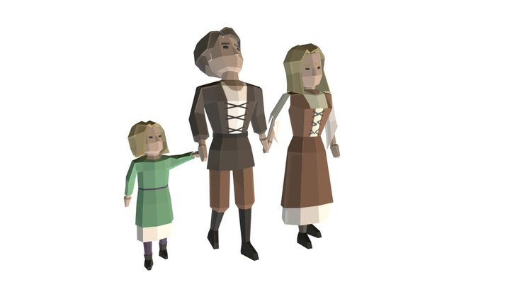 Peasant Family #2 3D Model