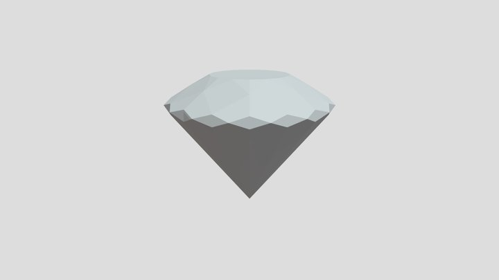 3D Diamond - Base Mesh 3D Model