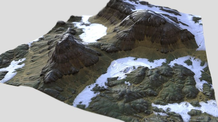 Snowy Highlands 3D Model