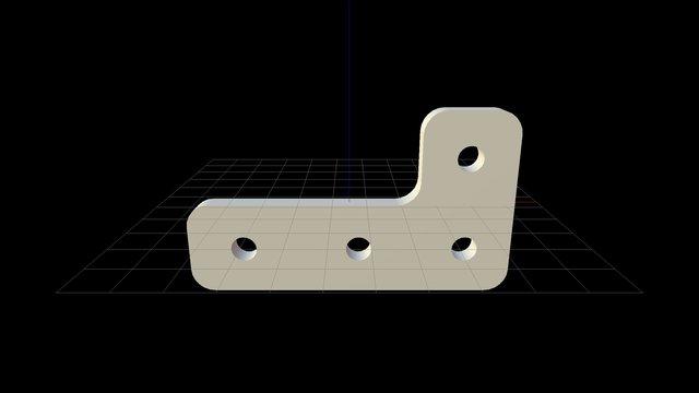 FarmBot Genesis V1.0 Z-Chain Plate 3D Model