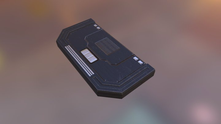Scifi Platform End 3D Model
