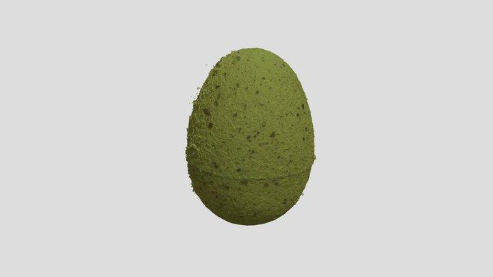 Green Easter Egg 3D Model