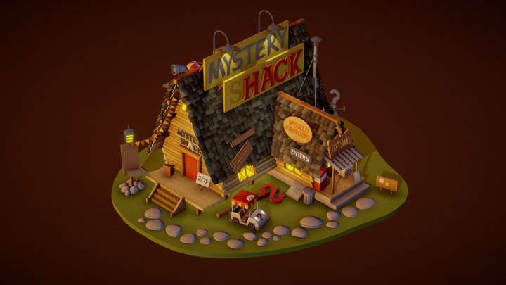 DraftPunk HW#5: Big-Medium (Mystery Shack) 3D Model