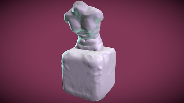 Aphrodite Bathing (torso study) 3D Model
