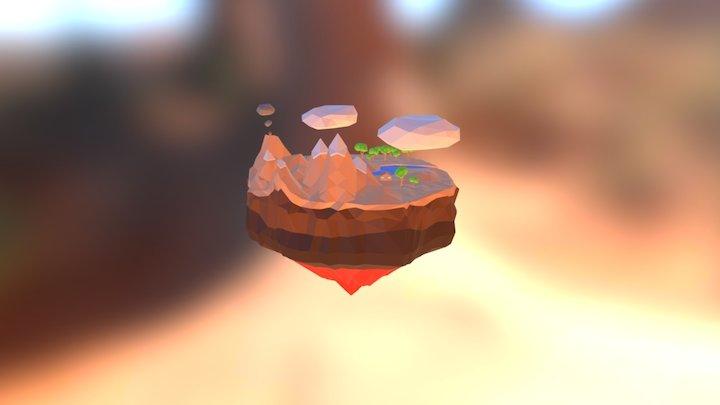 Simple lowpoly island 3D Model