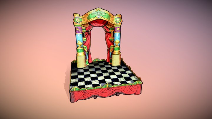 The Mystic Midway's Mythic Stage (VR-ready) 3D Model