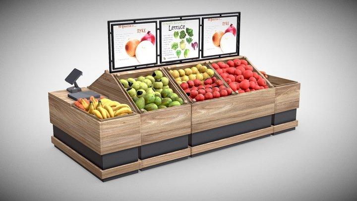 fruits shelf 3D Model