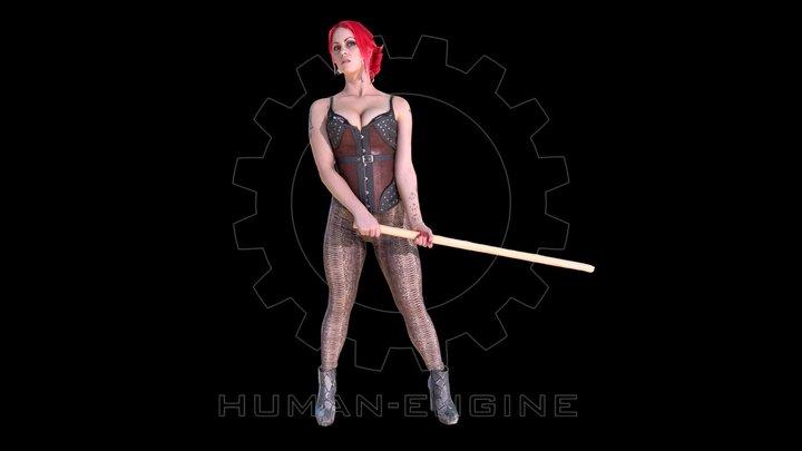 Female Scan - Red Sonya of Rogatino 3D Model