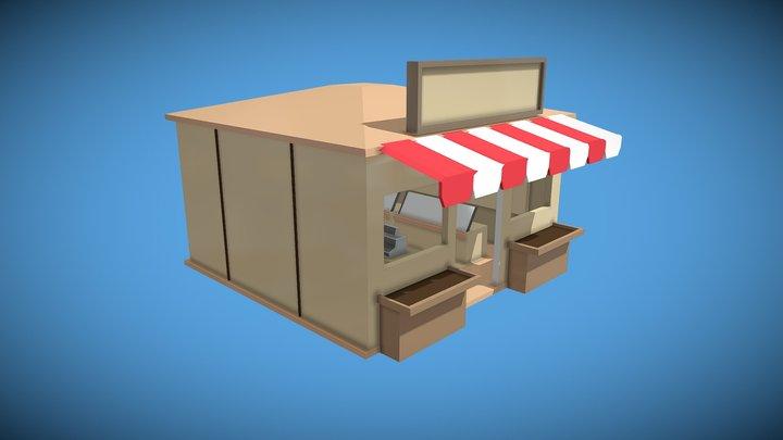 Bakery (Low Poly) 3D Model
