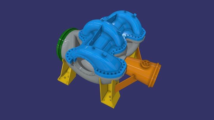 Oil pump model 3D Model