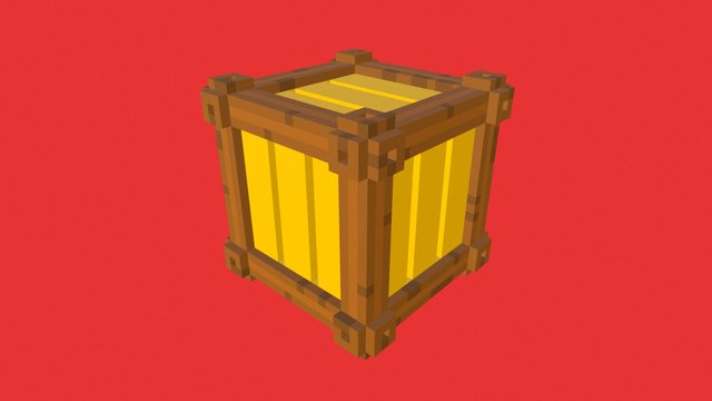 Daily Voxel #6 | Crate 3D Model