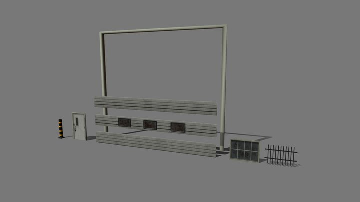Doors Windows Kit 3D Model