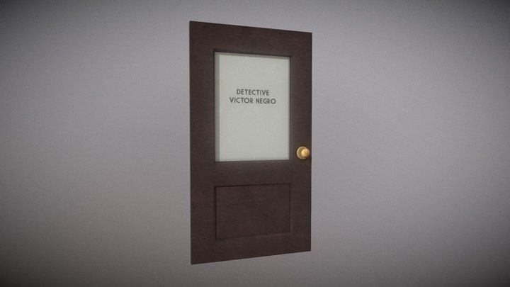 Cartoon Detective Door 3D Model