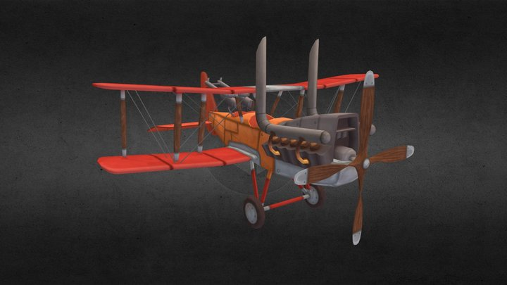 Royal Aircraft Factory R.E.8 Stylized 3D Model