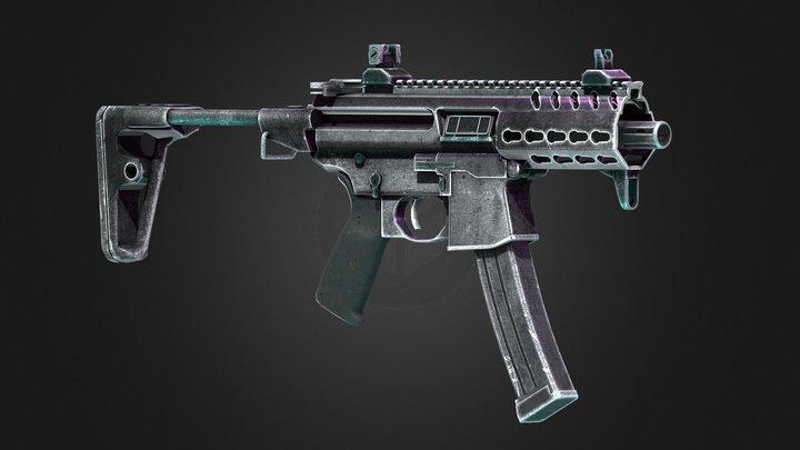 SIG MPX K PSB Rifle 3D Model