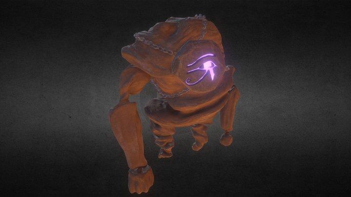 Egyptian Heavy Enemy 3D Model