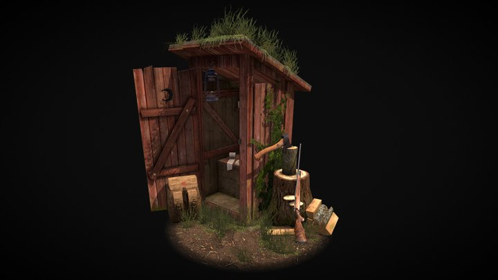 """5 Props Assignment - """"The Forest Loner"""" @DAE 3D Model"""