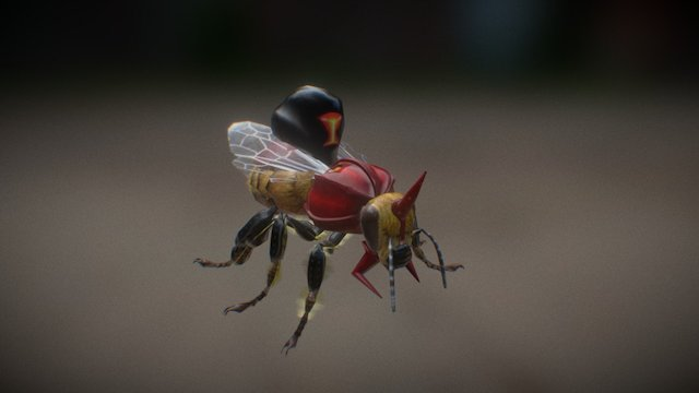 (new) Bee Mutant - Hive Wars video game 3D Model