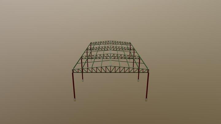 Estrutura metálica para cobertura de quadra 3D Model