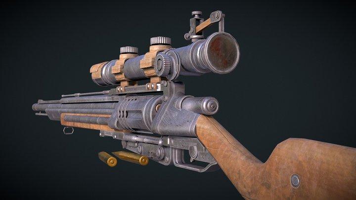 Wild West Sniper Rifle (Free) 3D Model