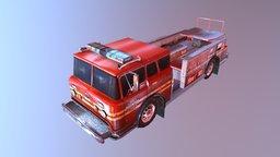 Fire  Bus 3D Model