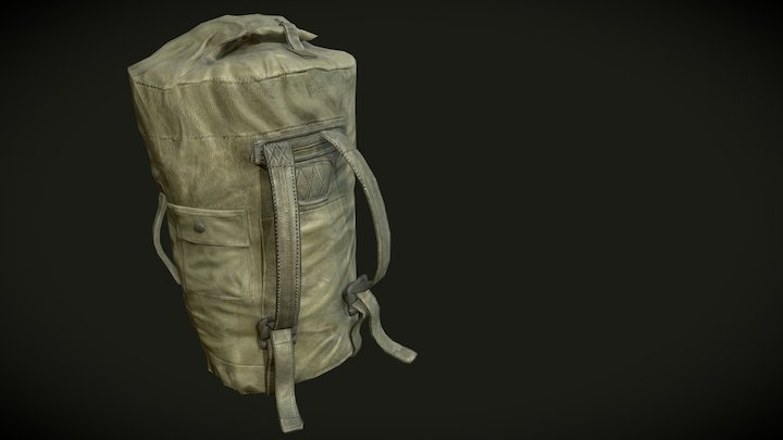Military Bag 3D Model