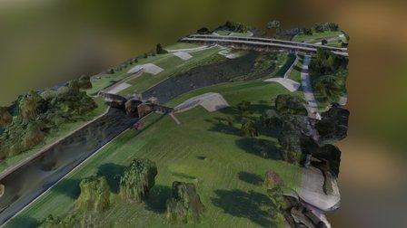 Bayou St John Canal, New Orleans, LA USA 3D Model