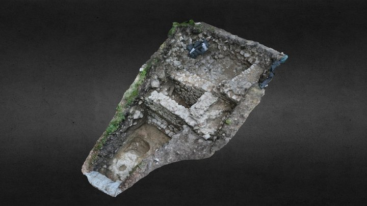 Ried Castle trench 9+10 post-excavation 3D Model