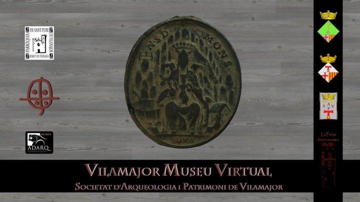 Medalla Montserrat SPV001.14. Optimitzada 3D Model